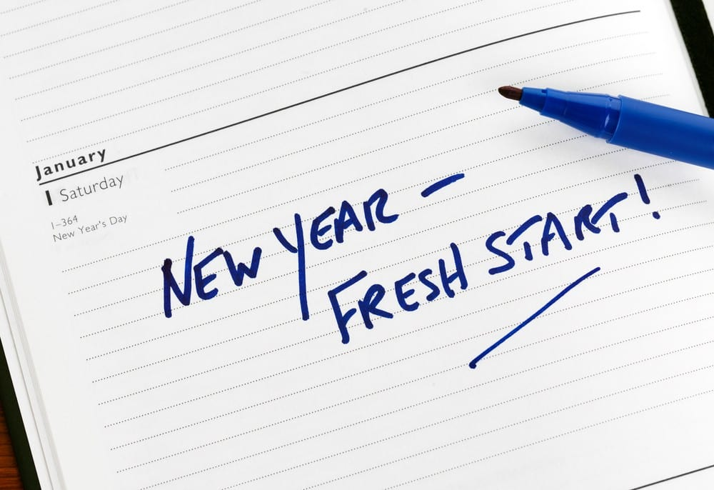 Writing New Years Resolutions in Diary | Blue Horizon Counselling