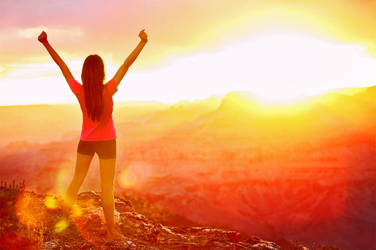 Girl Thinking Positively looking at Sunset | Blue Horizon Counselling