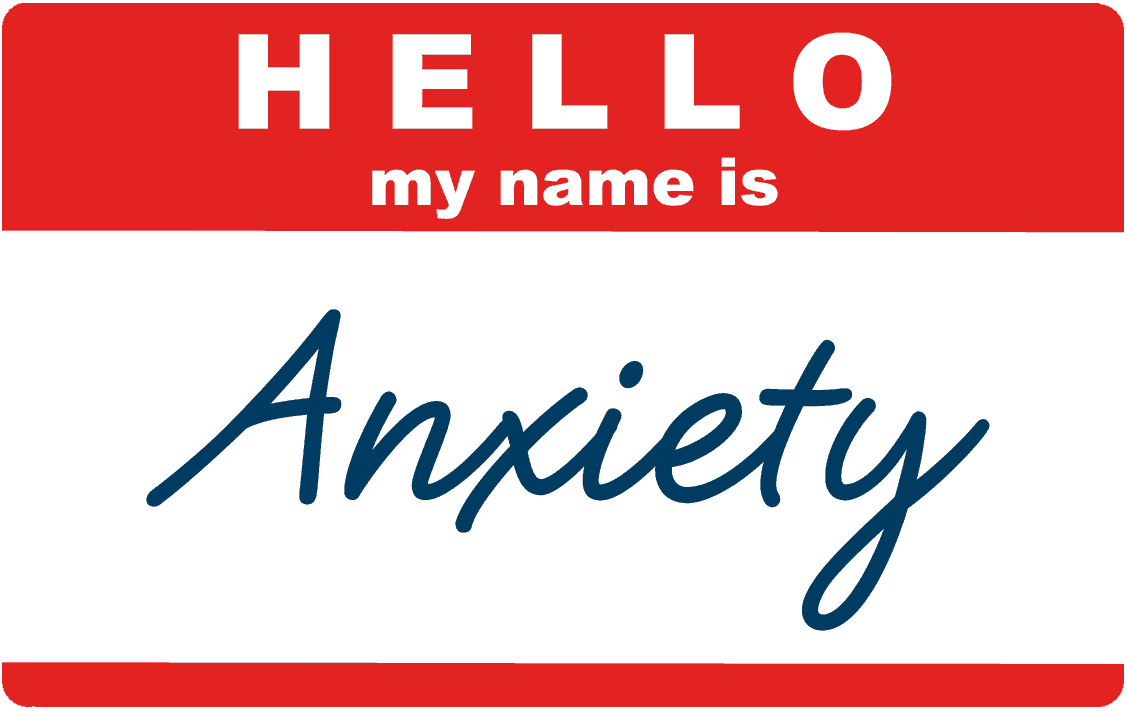 Red and White Anxiety Ticket | Blue Horizon Counselling