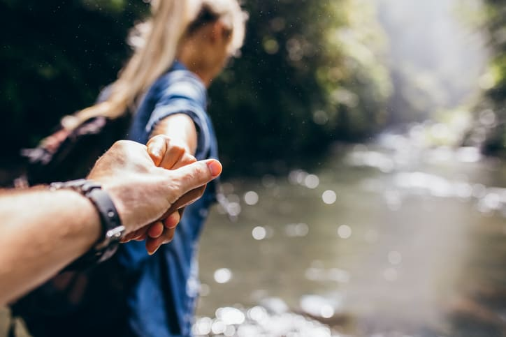 Happy Couple Hiking | Blue Horizon Counselling