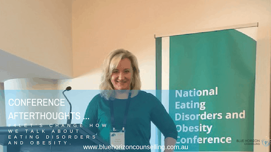 Yulia at National Eating Disorders and Obesity Conference | Blue Horizon Counselling